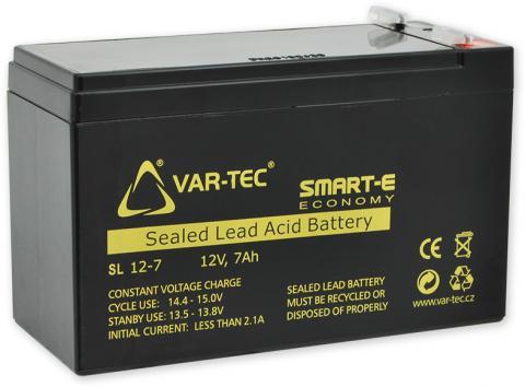 AKKU SMART-E 12V/7Ah - economy, rozměr: DxŠxV = 151x65x102 mm