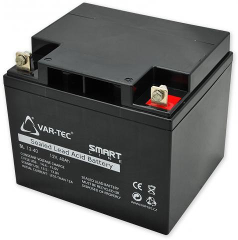 AKKU SMART 12V/40Ah - rozměr: DxŠxV = 197x165x170 mm