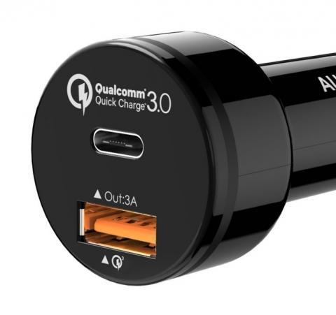 USB 2 port car Charger CC-Y1 - USB a USB-C