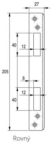 LI RO - protiplech - rovný