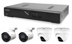 Kamerový set 1x AVTECH NVR AVH1104, 2x 2MPX IP Bullet kamera AVTECH DGM2103SV a 2x 2MPX IP Dome kamera AVTECH DGM2203SVSE