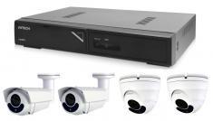 Kamerový set 1x AVTECH NVR AVH1104, 2x 5MPX IP Dome kamera AVTECH DGM5406ASE a 2x 5MPX IP Bullet kamera AVTECH DGM5606