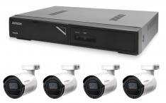 Kamerový set 1x AVTECH NVR AVH1104 a 4x 2MPX IP Bullet kamera AVTECH DGM2103SV