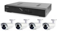 Kamerový set 1x AVTECH NVR AVH1104 a 4x 5MPX IP Bullet kamera AVTECH DGM5606