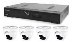 Kamerový set 1x AVTECH NVR AVH1104 a 4x 5MPX IP Dome kamera AVTECH DGM5406ASE