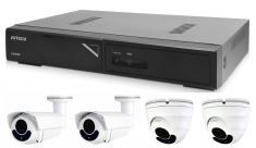 Kamerový set 1x AVTECH NVR AVH1104, 2x 2MPX Motorzoom IP Dome kamera AVTECH DGM2443SVSE a 2x 2MPX Motorzoom IP Bullet kamera AVTECH DGM2643SV