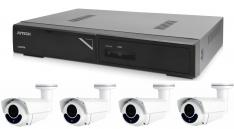 Kamerový set 1x AVTECH NVR AVH1104 a 4x 2MPX Motorzoom IP Bullet kamera AVTECH DGM2643SV