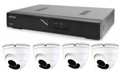 Kamerový set 1x AVTECH NVR AVH1104 a 4x 2MPX Motorzoom IP Dome kamera AVTECH DGM2443SVSE