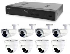 Kamerový set 1x AVTECH NVR AVH1109, 4x 5MPX IP Bullet kamera AVTECH DGM5606 a 4x 2MPX IP Dome kamera AVTECH DGM5406ASE
