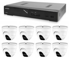 Kamerový set 1x AVTECH NVR AVH1109 a 8x 2MPX IP Dome kamera AVTECH DGM2203SVSE