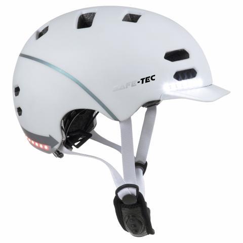 Safe-Tec SK8 White L (58cm - 61cm)