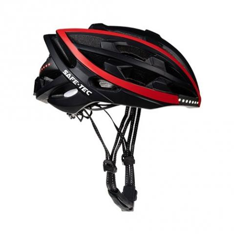 Safe-Tec TYR Black Red L (58cm - 61cm)
