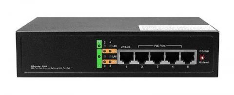 RX-PSE5604EX - switch 5 port 10/100, 4x PoE 3af/3at, 60W