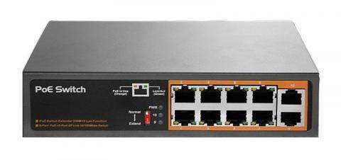 RX-PSE108EX - PoE switch 10/8 100Mb, max.120W, af, at