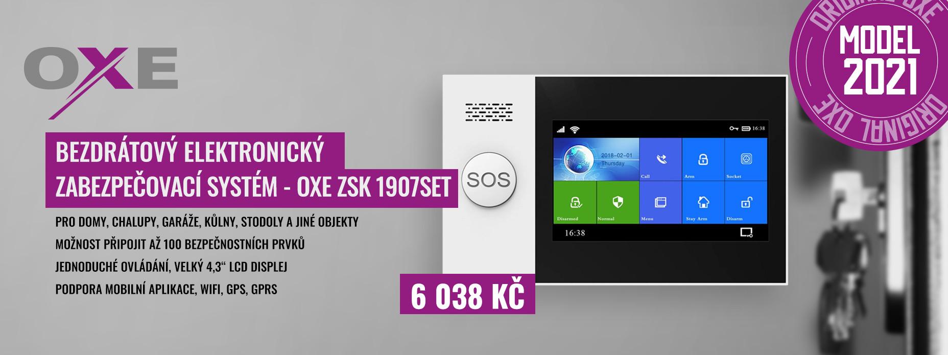 OXE ZSK 1907SET - Bezdrátový elektronický zabezpečovací systém
