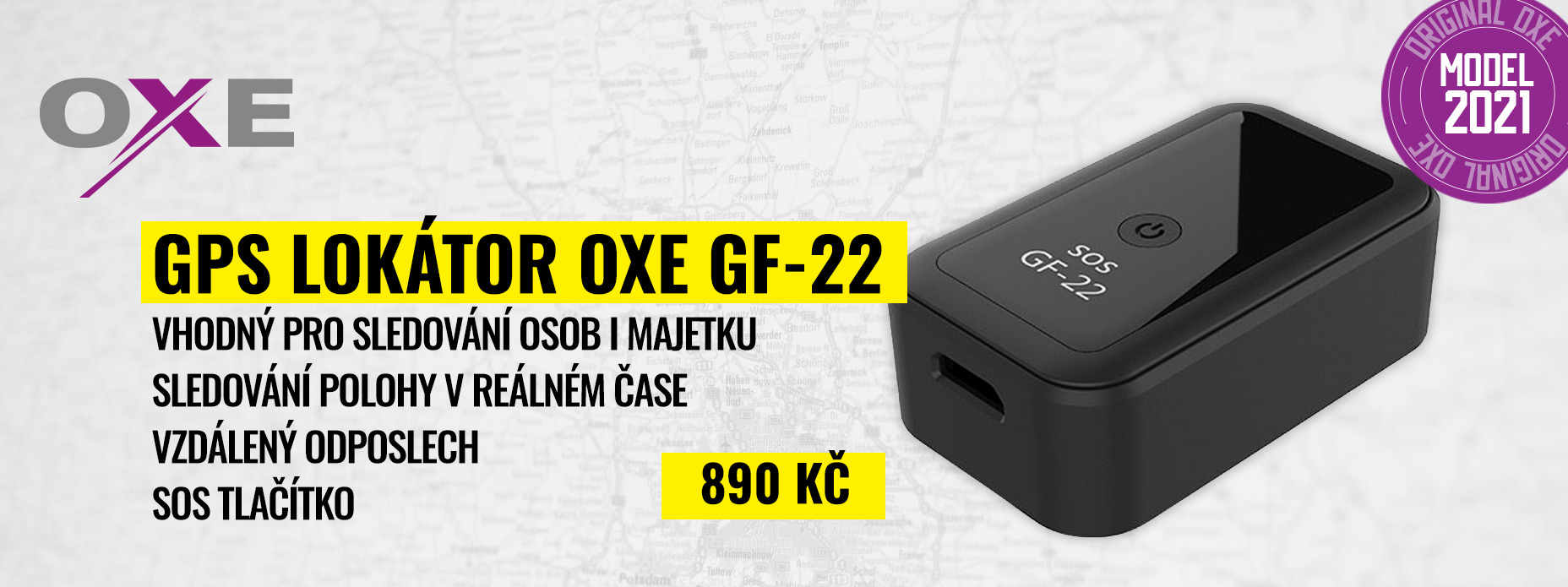 OXE GF-22 - GPS lokátor